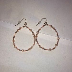 LOFT Pink & Gold Earrings